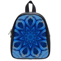 Blue Blossom Mandala School Bags (small)  by designworld65