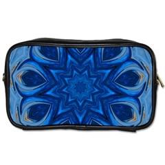 Blue Blossom Mandala Toiletries Bags 2 Side by designworld65