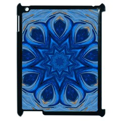 Blue Blossom Mandala Apple Ipad 2 Case (black) by designworld65