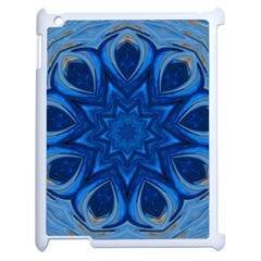 Blue Blossom Mandala Apple Ipad 2 Case (white) by designworld65