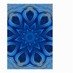 Blue Blossom Mandala Small Garden Flag (two Sides) by designworld65