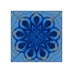 Blue Blossom Mandala Acrylic Tangram Puzzle (4  X 4 ) by designworld65