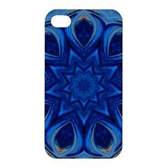 Blue Blossom Mandala Apple Iphone 4/4s Premium Hardshell Case by designworld65