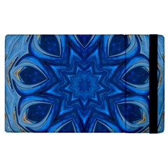 Blue Blossom Mandala Apple Ipad 2 Flip Case by designworld65
