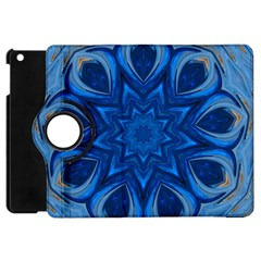 Blue Blossom Mandala Apple Ipad Mini Flip 360 Case by designworld65