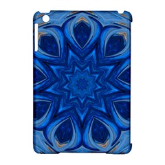 Blue Blossom Mandala Apple Ipad Mini Hardshell Case (compatible With Smart Cover) by designworld65
