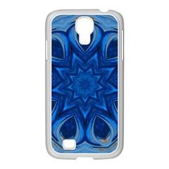 Blue Blossom Mandala Samsung Galaxy S4 I9500/ I9505 Case (white) by designworld65