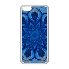 Blue Blossom Mandala Apple Iphone 5c Seamless Case (white) by designworld65
