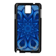 Blue Blossom Mandala Samsung Galaxy Note 3 N9005 Case (black) by designworld65
