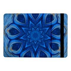Blue Blossom Mandala Samsung Galaxy Tab Pro 10 1  Flip Case by designworld65