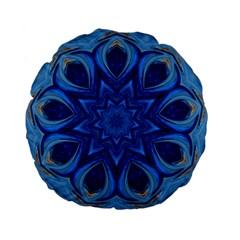 Blue Blossom Mandala Standard 15  Premium Flano Round Cushions by designworld65