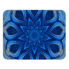 Blue Blossom Mandala Double Sided Flano Blanket (large)  by designworld65