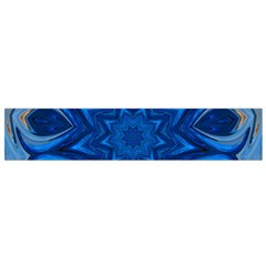 Blue Blossom Mandala Flano Scarf (small) by designworld65