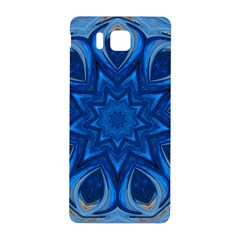 Blue Blossom Mandala Samsung Galaxy Alpha Hardshell Back Case by designworld65