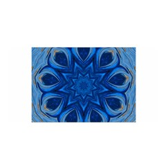 Blue Blossom Mandala Satin Wrap by designworld65