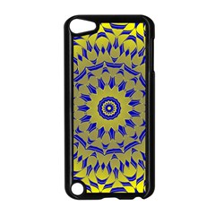 Yellow Blue Gold Mandala Apple Ipod Touch 5 Case (black) by designworld65