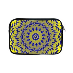 Yellow Blue Gold Mandala Apple Ipad Mini Zipper Cases by designworld65