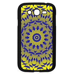 Yellow Blue Gold Mandala Samsung Galaxy Grand Duos I9082 Case (black) by designworld65