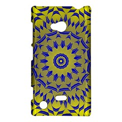 Yellow Blue Gold Mandala Nokia Lumia 720 by designworld65