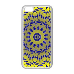 Yellow Blue Gold Mandala Apple Iphone 5c Seamless Case (white) by designworld65
