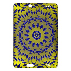 Yellow Blue Gold Mandala Amazon Kindle Fire Hd (2013) Hardshell Case by designworld65
