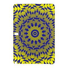 Yellow Blue Gold Mandala Samsung Galaxy Tab Pro 12 2 Hardshell Case by designworld65