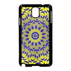 Yellow Blue Gold Mandala Samsung Galaxy Note 3 Neo Hardshell Case (black) by designworld65