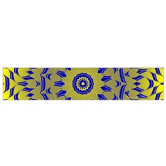 Yellow Blue Gold Mandala Flano Scarf (small) by designworld65