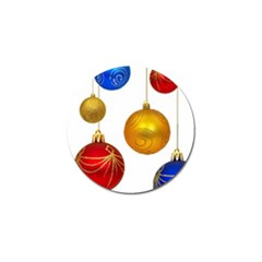 Gold Trim Christmas Ornaments on Strings Golf Ball Marker (10 pack) by DesignMonaco