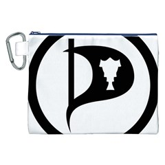 Pirate Party Of Iceland Logo Canvas Cosmetic Bag (xxl) by abbeyz71