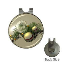 Traditional Christmas Ornaments Golf Ball Marker Hat Clip by DesignMonaco