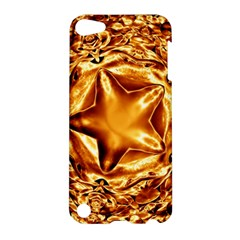 Elegant Gold Copper Shiny Elegant Christmas Star Apple Ipod Touch 5 Hardshell Case by yoursparklingshop