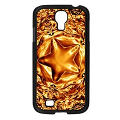 Elegant Gold Copper Shiny Elegant Christmas Star Samsung Galaxy S4 I9500/ I9505 Case (black) by yoursparklingshop