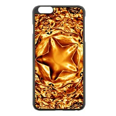 Elegant Gold Copper Shiny Elegant Christmas Star Apple Iphone 6 Plus/6s Plus Black Enamel Case by yoursparklingshop