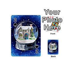 Winter Snow Ball Snow Cold Fun     Playing Cards 54 (Mini)  by Zeze