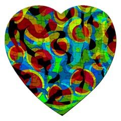 Colorful Smoothie  Jigsaw Puzzle (heart) by Valentinaart