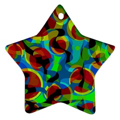 Colorful Smoothie  Star Ornament (two Sides)  by Valentinaart