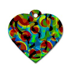 Colorful Smoothie  Dog Tag Heart (one Side) by Valentinaart