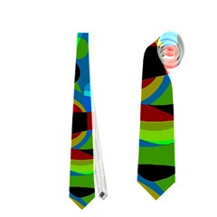 Colorful Smoothie  Neckties (one Side)  by Valentinaart