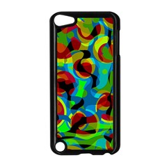 Colorful Smoothie  Apple Ipod Touch 5 Case (black) by Valentinaart