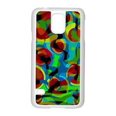 Colorful Smoothie  Samsung Galaxy S5 Case (white) by Valentinaart