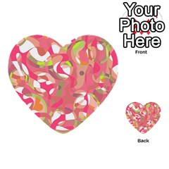 Pink Smoothie  Multi Purpose Cards (heart)  by Valentinaart
