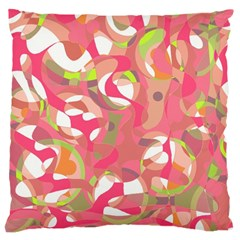 Pink Smoothie  Large Cushion Case (two Sides) by Valentinaart