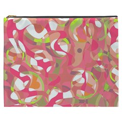 Pink Smoothie  Cosmetic Bag (xxxl)  by Valentinaart