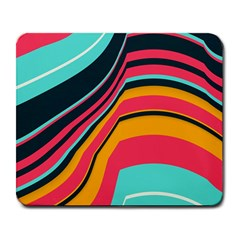 Bent Waves                                                                                                        			large Mousepad by LalyLauraFLM