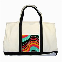 Bent Waves                                                                                                        			two Tone Tote Bag by LalyLauraFLM