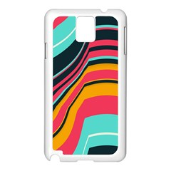 Bent Waves                                                                                                       			samsung Galaxy Note 3 N9005 Case (white) by LalyLauraFLM