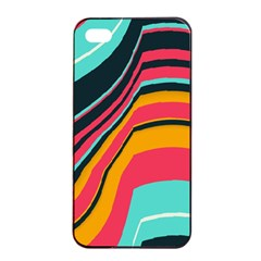 Bent Waves                                                                                                       			apple Iphone 4/4s Seamless Case (black) by LalyLauraFLM