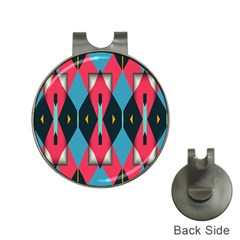 Triangles Stripes And Other Shapes                                                                                                         golf Ball Marker Hat Clip by LalyLauraFLM