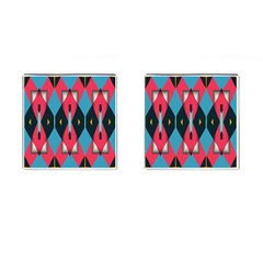 Triangles Stripes And Other Shapes                                                                                                         cufflinks (square) by LalyLauraFLM